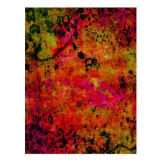 Grunge colorido, rojo caliente tarjeta postal
