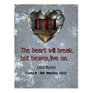 grunge computer heart quote card