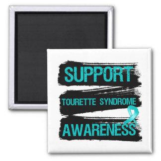 Grunge - conciencia del síndrome de Tourette de la Imán Cuadrado