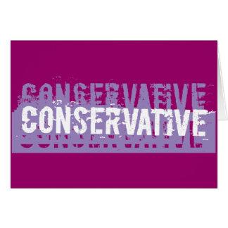 Grunge Conservative Card
