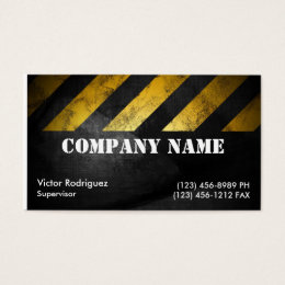 Road construction business cards templates zazzle grunge construction business card reheart Choice Image