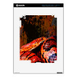 Grunge Corn Snake Coiled Decals For iPad 3