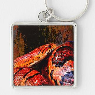 Grunge Corn Snake Coiled Key Chain