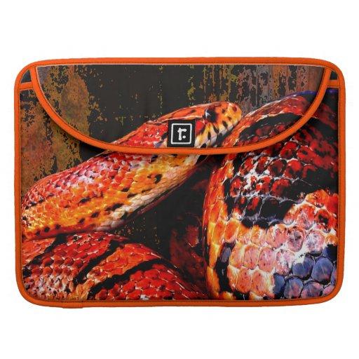 Grunge Corn Snake Coiled MacBook Pro Sleeves