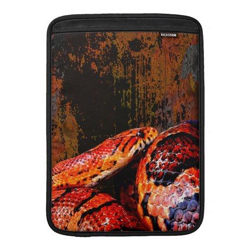 Grunge Corn Snake Coiled MacBook Sleeve