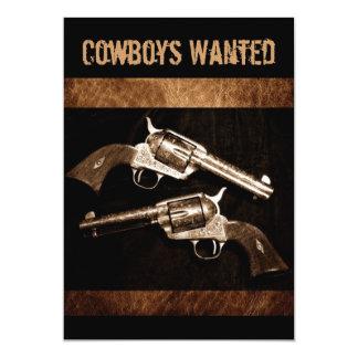Grunge Cowboy Retro Western Country Pistols Card