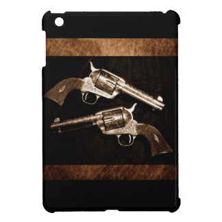 Grunge Cowboy Retro Western Country Pistols Cover For The iPad Mini