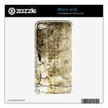 Grunge Crack Pattern Decals For The iPhone 4