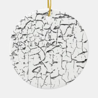 Grunge cracked paint effect ceramic ornament