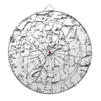 Grunge cracked paint effect dart board