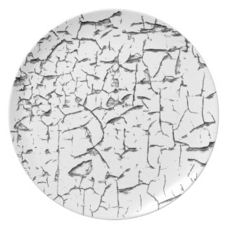 Grunge cracked paint effect party plates