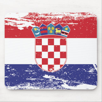 Grunge Croatia Flag Mouse Pad