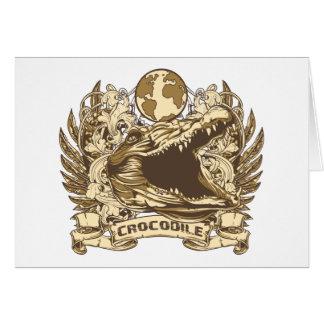 Grunge Crocodile Card