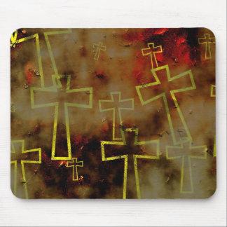 grunge-cross mouse pad