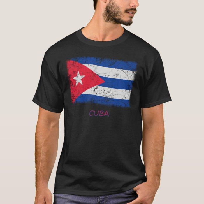 Grunge Cuba Flag T-Shirt