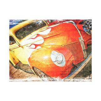 Grunge Custom Truck Canvas