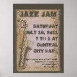 Grunge Customizable Jazz Music Festival Poster