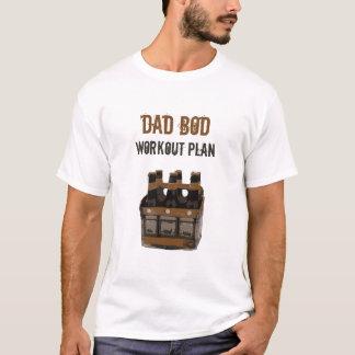 Grunge Dad Bod Workout Plan Beer Bottles Humor T-Shirt