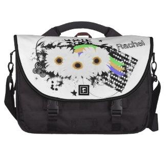 Grunge Daisies Laptop Bag Template