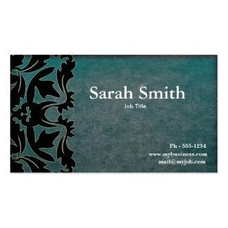 Grunge damask business card