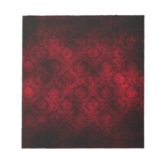 Grunge Damask (Red) Scratch Pad