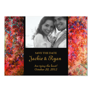 Grunge Damask Wedding Invite Save the Date Red
