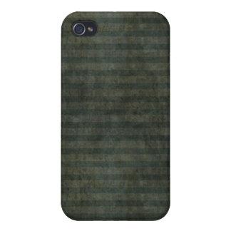 Grunge Dark Green Stripes iPhone 4 Case