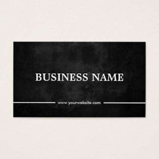 Grunge Dark Plastic Surgeon Business Card