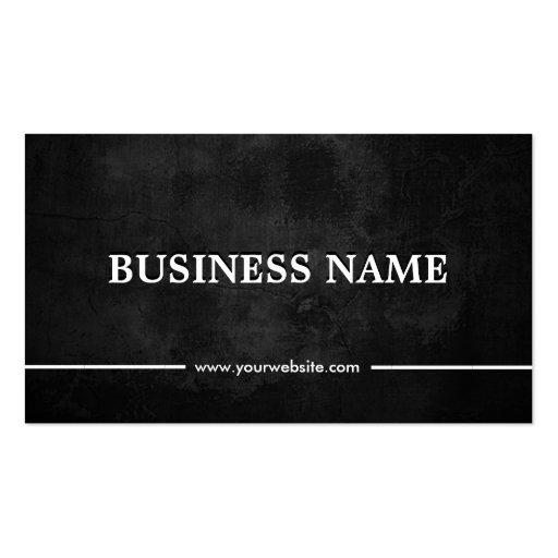 Grunge Dark Plastic Surgeon Double-Sided Standard Business Cards (Pack Of 100)