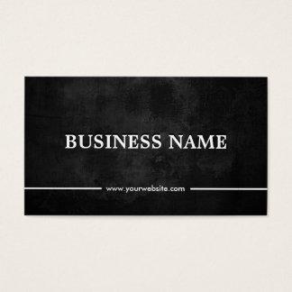Grunge Dark Sports Agent Business Card