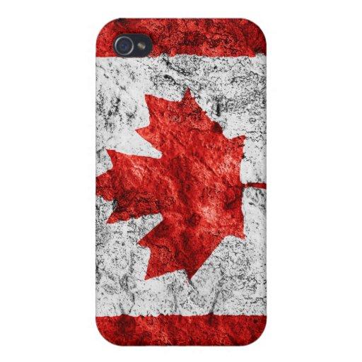 Grunge de Canadá - caso del iPhone 4 iPhone 4 Funda
