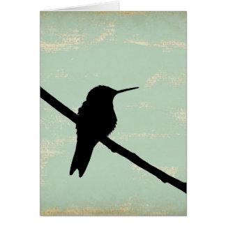 Grunge de Kolibri Blau, Gute Besserung Felicitación