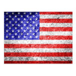 Grunge de la bandera americana tarjeta postal