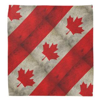 Grunge de la bandera de Canadá Bandana