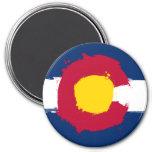 Grunge de la bandera de Colorado Imán De Frigorífico