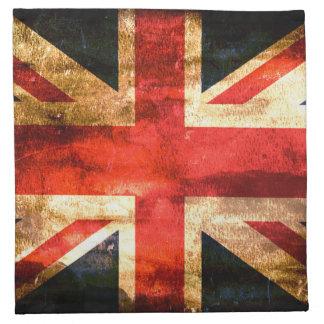 Grunge de la bandera de Reino Unido Servilleta De Papel