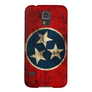 Grunge de la bandera de Tennessee Funda De Galaxy S5