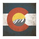 Grunge de la bandera del estado de Colorado con Impresión En Lienzo