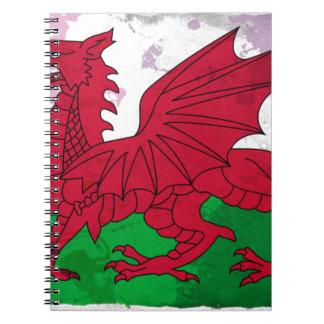 Grunge de la bandera Galés Note Book