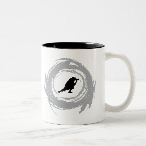 Grunge de la circular de la fotografía taza de café