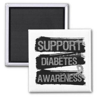 Grunge de la conciencia de la diabetes de la ayuda imán de frigorífico