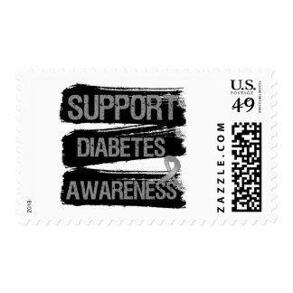 Grunge de la conciencia de la diabetes de la ayuda franqueo