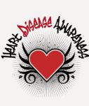 Grunge de la conciencia de la enfermedad cardíaca camiseta