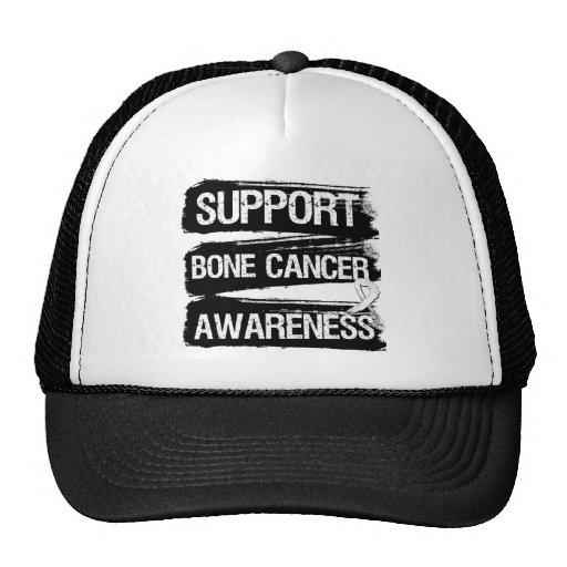 Grunge de la conciencia del cáncer de hueso de la  gorro