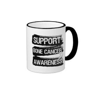 Grunge de la conciencia del cáncer de hueso de la taza de dos colores