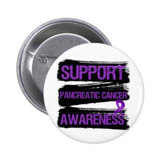 Grunge de la conciencia del cáncer pancreático de  pin redondo 5 cm