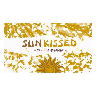 Grunge de la CROMATOGRAFÍA GASEOSA el Sun Kissse Tarjetas De Negocios