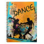 Grunge de la danza - coreógrafo, bailarín, instruc libro de apuntes con espiral