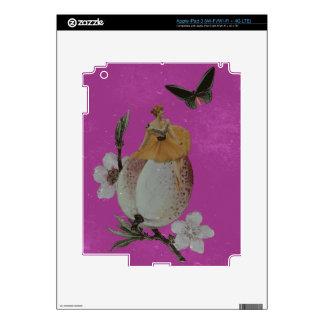 Grunge de la flor de la mujer del vintage pegatina skin para iPad 3
