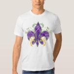 Grunge de la flor de lis del carnaval camisas